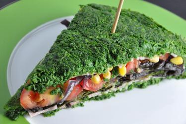 Sándwich de espinacas sin harina y bajo en calorías