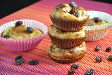 Muffins de banana sencillos y saludables (Sin gluten, Sin azúcar)