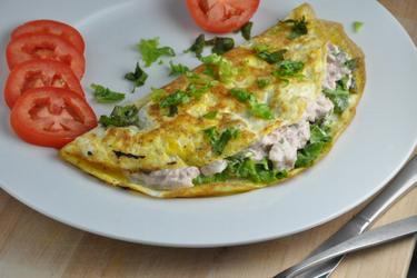 La mejor omelet de atún fitness