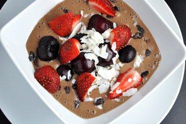 Helado saludable de cacao (sin gluten, sin azúcar)