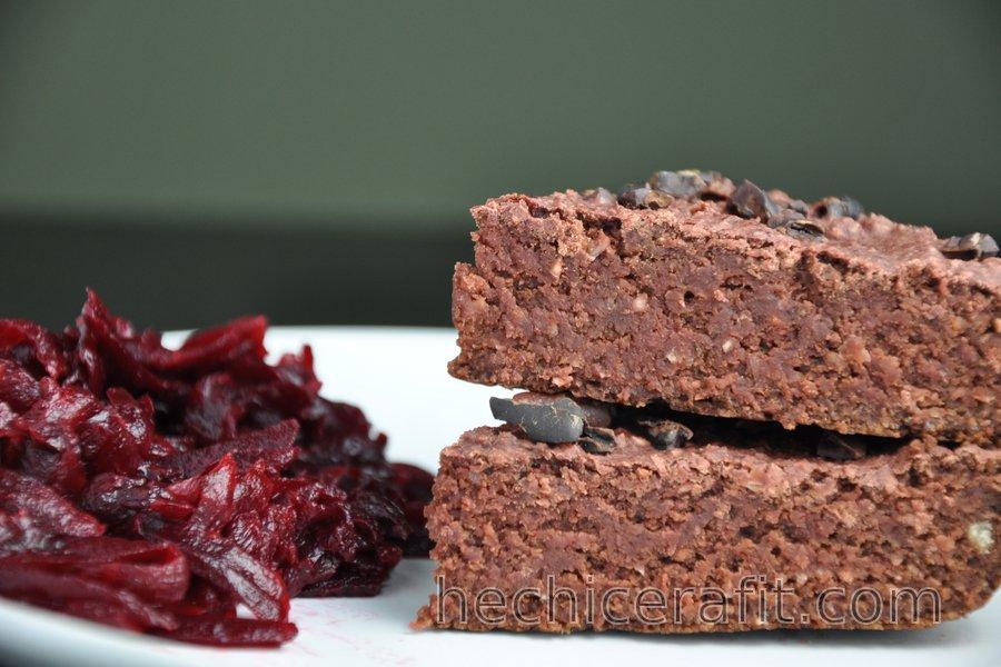 Brownies de avena y betabel (sin gluten)