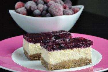 Tarta de queso de yogur fitness (sin gluten, sin azúcar)