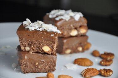Brownies de cacao sin hornear (sin gluten)