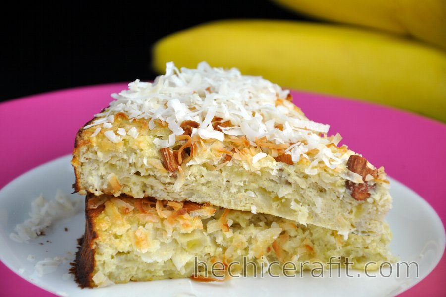 Pastel de coco y banana (sin gluten)