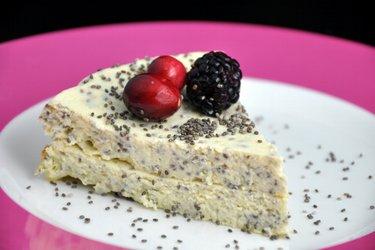 Pastel de requesón con semillas de amapola o chía (sin gluten)