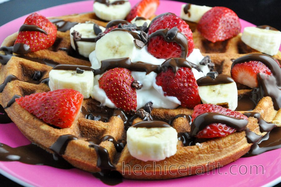 Waffles/Panqueques con proteína y sin gluten