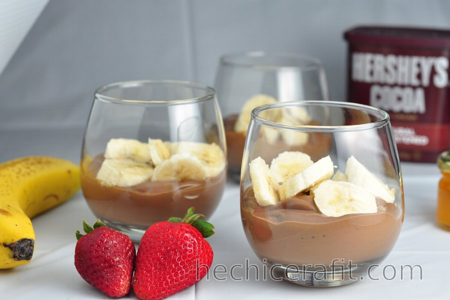 Pudín de Banana y Chocolate Saludable