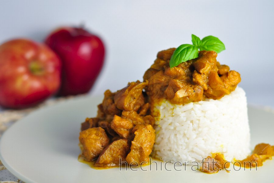 Pollo al Curry con Manzanas Fitness