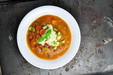 Sopa Espesa de Frijoles con Batata