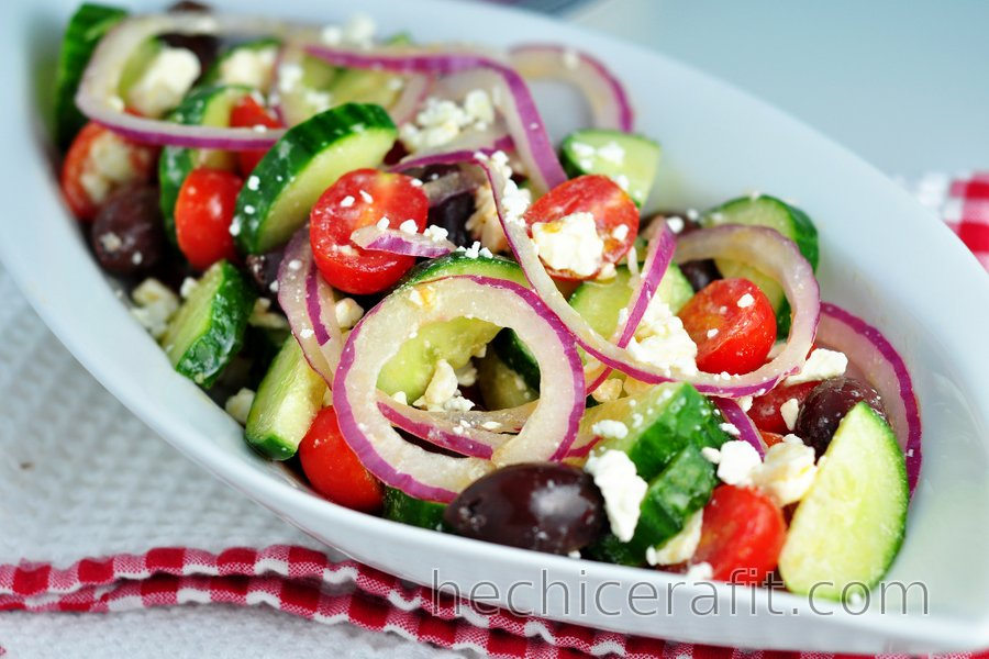 Sencilla ensalada griega