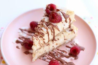 La mejor tarta de queso de coco saludable