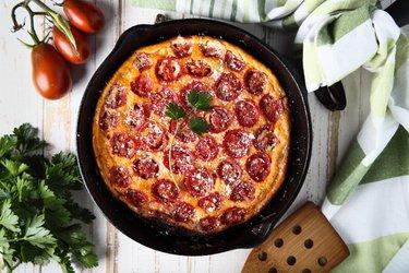 Frittata de tomate baja en carbohidratos