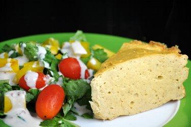 Pastel de pollo saludable