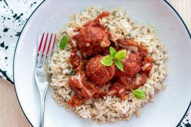 Albóndigas saludables en salsa de tomate