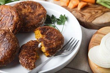 Tortitas horneadas de zanahoria saludables