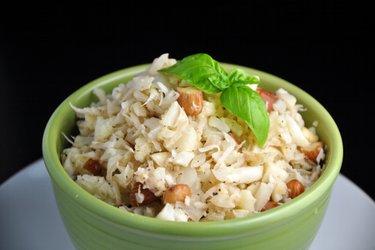 """""""Risotto"""" de coliflor y coco sin arroz"""
