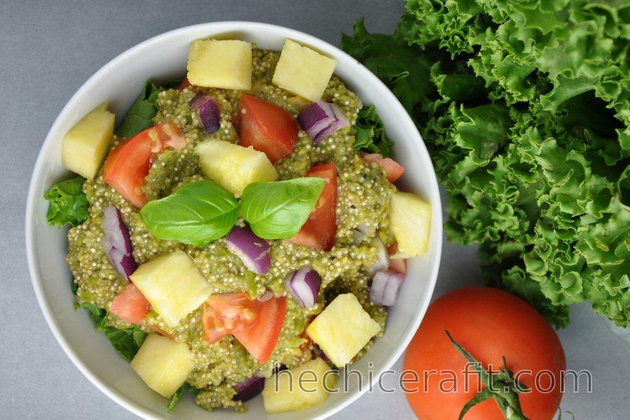 Quinoa en guacamole