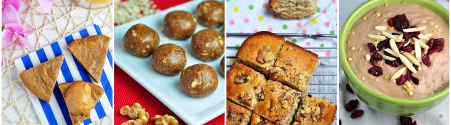 Recetas saludables de postres con mantequilla de maní