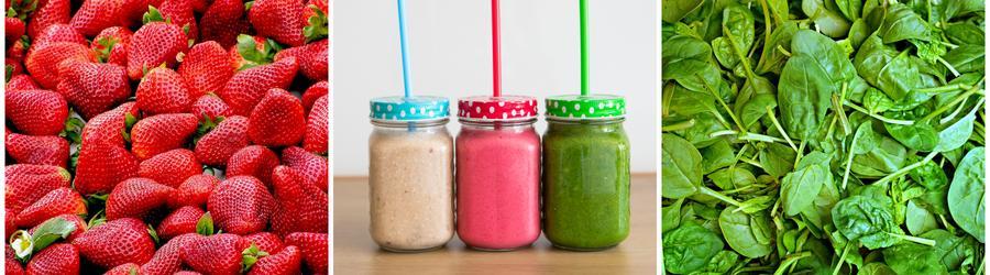 Batidos y bebidas saludables altos en fibras