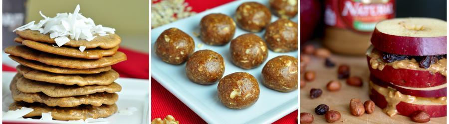 Recetas saludables de tentempiés con mantequilla de maní