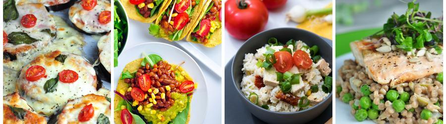 Recetas fáciles y saludables de almuerzos y cenas