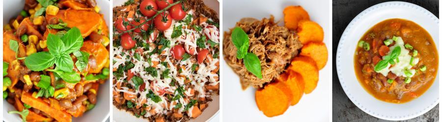 Recetas con batata dulce altas en proteínas