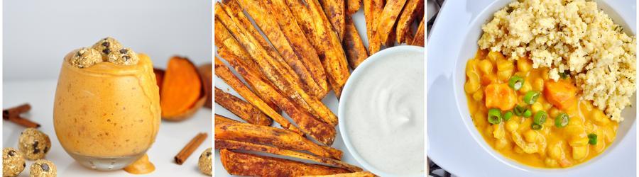 Recetas veganas y saludables con batata dulce