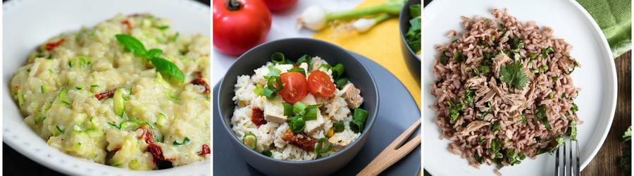 Recetas con arroz altas en proteínas