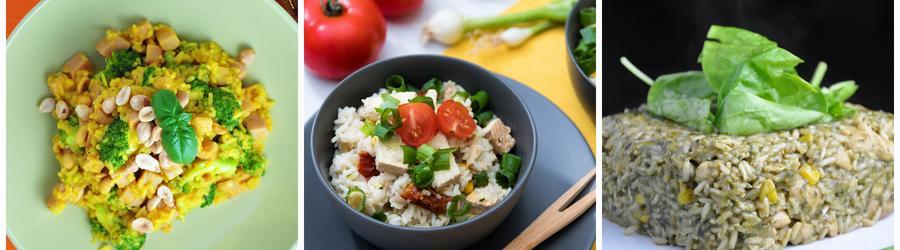 Recetas veganas y saludables con arroz