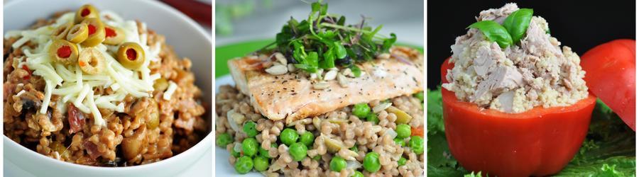 Recetas con cuscús altas en proteínas