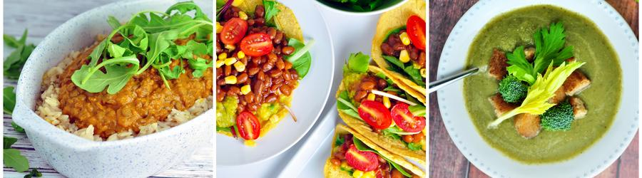 Recetas veganas y saludables con vegetales