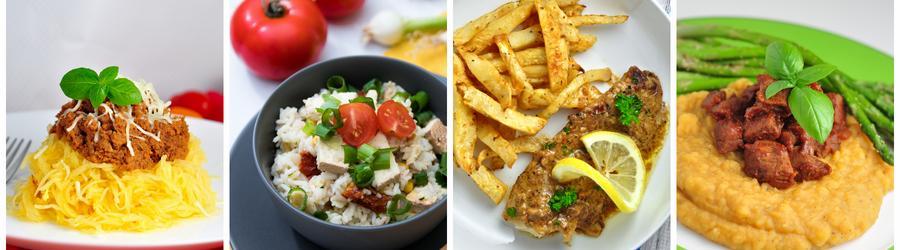 Recetas saludables de almuerzos y cenas sin gluten
