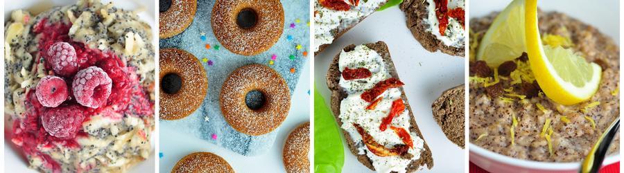 Recetas saludables de desayunos veganos
