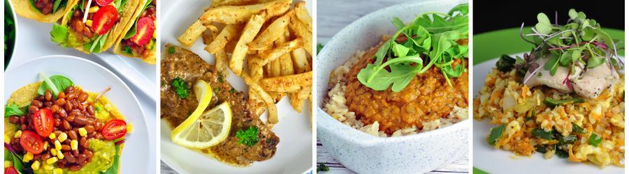 Recetas saludables de almuerzos y cenas sin lácteos