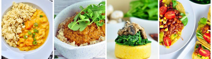 Recetas saludables de cenas y almuerzos veganos