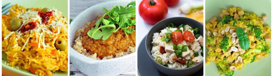 Recetas saludables de almuerzos y cenas con arroz