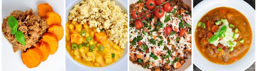 Recetas saludables de almuerzos y cenas con batata dulce