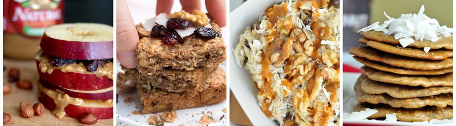 Recetas saludables de desayunos con mantequilla de maní