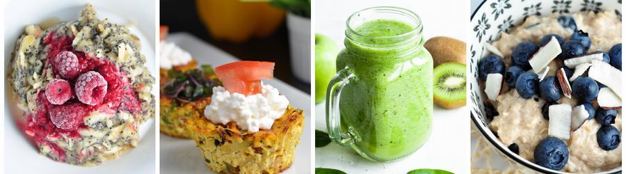 Recetas de desayunos bajos en calorías para perder peso
