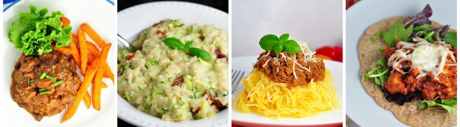Recetas de almuerzos y cenas sin huevo