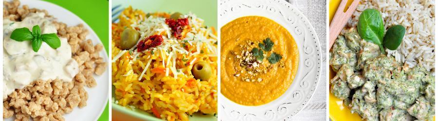 Recetas de almuerzos y cenas low fat