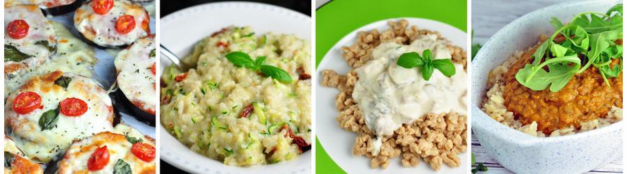 Recetas vegetarianas saludables de almuerzos y cenas - sin carnes