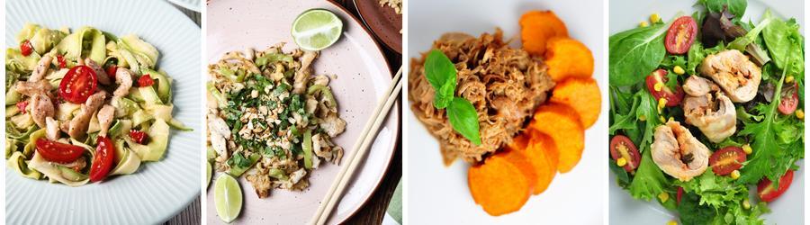 Recetas saludables de almuerzos y cenas con pollo