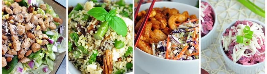 Recetas de ensaladas altas en proteínas