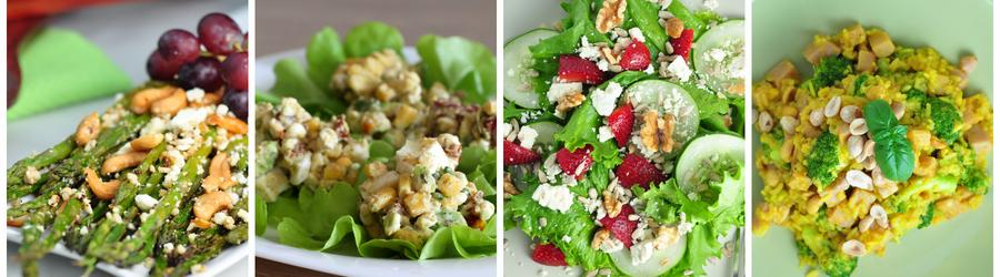 Recetas de ensaladas bajas en carbohidratos