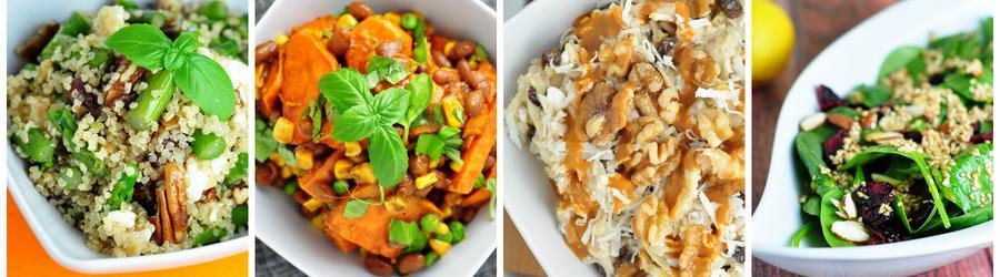 Recetas saludables de ensaladas veganas