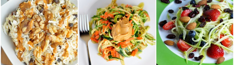 Recetas saludables de ensaladas con calabacín