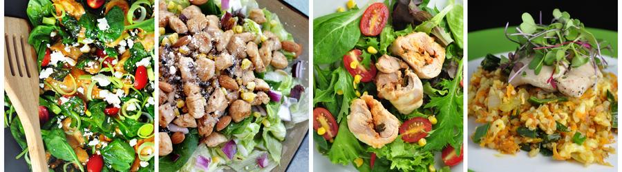 Recetas saludables de ensaladas con pollo